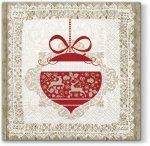 Serwetki świąteczne SCANDINAVIAN BAUBLE, Paw (SDL081100)