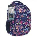 Plecak szkolny młodzieżowy Back UP pastelowe kwiaty SPRING + słuchawki (PLB1A4)