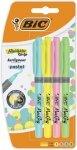 Zakreślacze BiC Highlighter Grip Pastel 4 kolory  (38474)