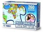 ZACHEM Puzzle 260 el. Mapa świata, PUZZLE EDUKACYJNE (7040)