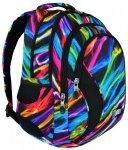 Plecak szkolny młodzieżowy ST.RIGHT w kolowe smugi, NEW ILLUSION BP2 (17782)