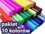 Bibuła marszczona 50x200 cm PAKIET 10 KOLORÓW (PAK10K)