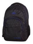 Plecak szkolny młodzieżowy COOLPACK BASIC czarny z niebieskimi dodatkami, TOPOGRAPHY BLUE 985 (71475)