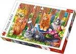 TREFL Puzzle 500 el. Kotki w ogrodzie (37326)
