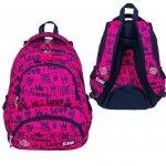 Plecak szkolny młodzieżowy ST.RIGHT w korony, LOVE BP7 (26777)