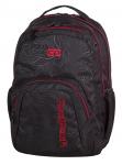Plecak szkolny młodzieżowy COOLPACK SMASH czarny z czerwonymi dodatkami, TOPOGRAPHY RED 976 (71246)