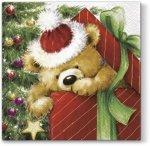 Serwetki świąteczne BOŻONARODZENIOWE, Paw (SDL056900)