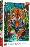 TREFL Puzzle 1000 el. Drapieżny tygrys (10528)