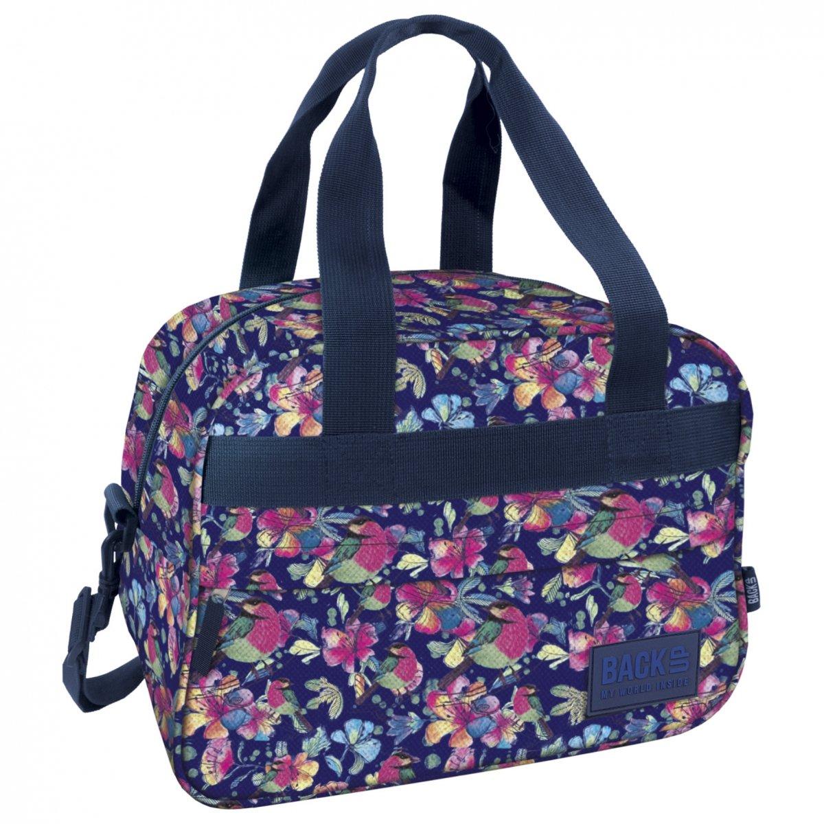 c56f659f93820 Torba podróżna, sportowa Back UP pastelowe kwiaty SPRING (TPB1A4 ...