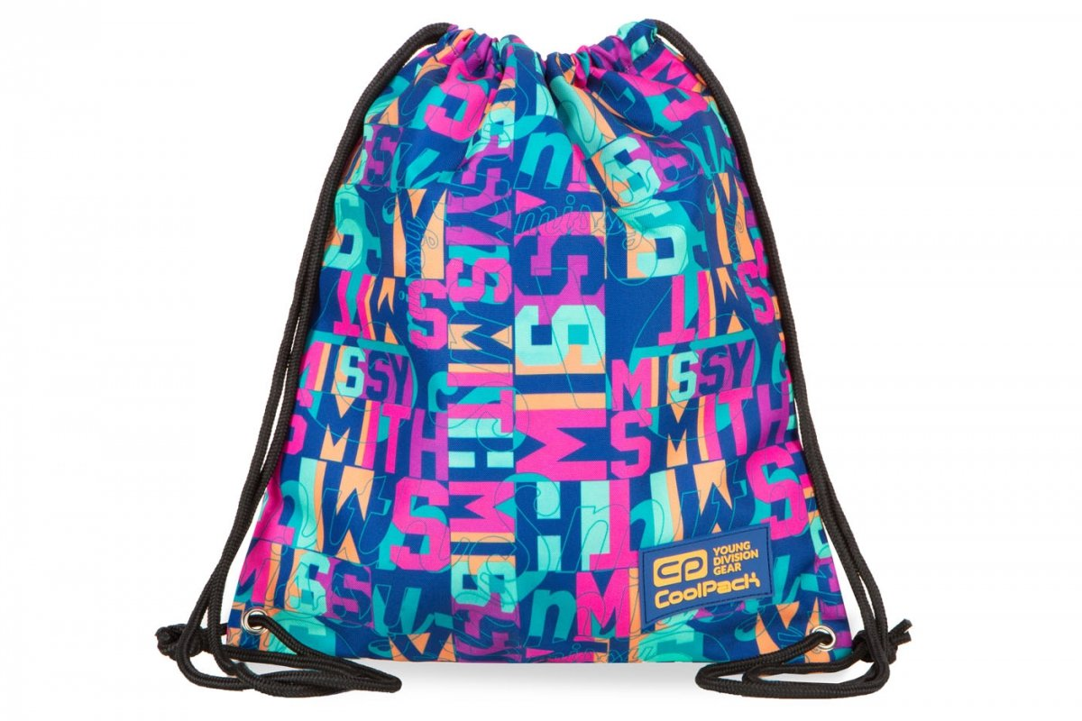 82aa471ee3b9c WOREK CoolPack SOLO w kolorowe napisy