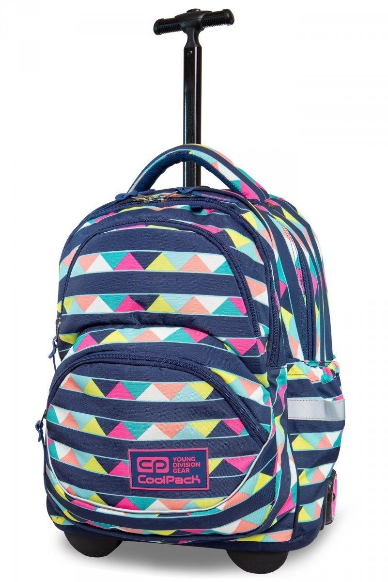9c8303ef9ab58 Plecak CoolPack STARR na kółkach w kolorowe pasy