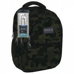 Plecak szkolny młodzieżowy Back UP klasyczne moro MORO + słuchawki (PLB1B54)
