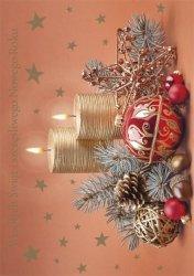 Kartka świąteczna BOŻE NARODZENIE 12 x 17 cm + koperta (41313)