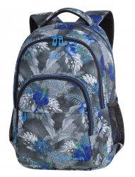 Plecak CoolPack BASIC PLUS kwiaty na grafitowym tle, BLUE HIBISCUS (84536CP)