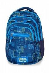 Plecak CoolPack COLLEGE TECH niebieskie wzory, OCEAN ROOM (B36096)