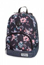 Plecak CoolPack CLASSIC miejski młodzieżowy w kwiaty na ciemnym tle, DARK ROMANCE (B06020)