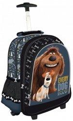 Plecak szkolny, na kółkach THE SECRET LIFE, Sekretne życie zwierzaków domowych OF PETS (70963)