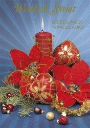 Kartka świąteczna BOŻE NARODZENIE 12 x 17 cm + koperta (43843)