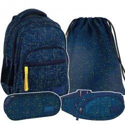 ZESTAW 4 el. Plecak szkolny młodzieżowy BackUP PRZETARCIA (PLB2M46SET4CZ)