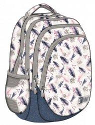 Plecak szkolny młodzieżowy ST.RIGHT w piórka boho, BOHO BP6 (22267)