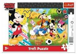 TREFL Puzzle Ramkowe 15 el. Myszka Mickey Na wsi (31353)