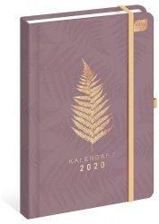 Kalendarz książkowy A5 LIŚĆ  2020 (73192)