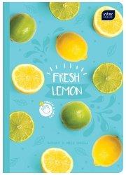 Zeszyt zapachowy A5 60 kartek w kratkę FRESH LEMON cytryna (67122)