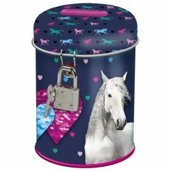 Skarbonka z kłódką I LOVE HORSES Konie (SKKO17)