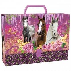 Gruba teczka z rączką I LOVE HORSES Konie (TRGKO04)