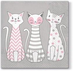 Serwetki dekoracyjne GLAM CATS Koty 33x33 cm (TL699000)