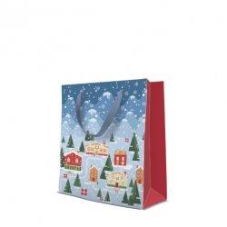 Torebka świąteczna VILLAGE, Paw (AGB2004503)