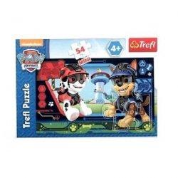 TREFL Puzzle mini 54 el. Psi Patrol, Marshall i Chace w akcji (19601)