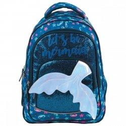 Plecak szkolny młodzieżowy BackUP 24 L syrenka, GLOSSY NAVY (PLB3Y58)