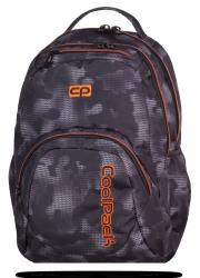 Plecak szkolny młodzieżowy COOLPACK SMASH czarny z pomarańczowymi dodatkami, MISTY ORANGE 953 (70638)