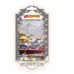 Kolorowe CEKINY Easy Creative 1000 szt. Gwiazdki & Śnieżynki (838966)