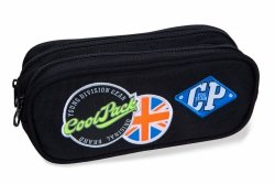 Piórnik CoolPack CLEVER czarny w znaczki, BADGES BLACK (B65055)