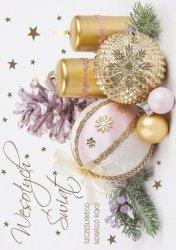 Kartka świąteczna BOŻE NARODZENIE 12 x 17 cm + koperta (41319)