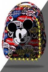 ZESTAW 3 el. Plecak wczesnoszkolny CoolPack LED JOY S Myszka Mickey, MICKEY MOUSE (B47300SET3CZ)