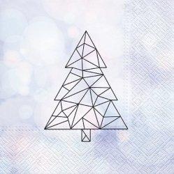 Serwetki dekoracyjne Geometric Tree CHOINKA 33x33 cm (SDL015500)