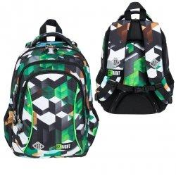 Plecak wczesnoszkolny ST.RIGHT w zielone klocki 3D, GREEN 3D BLOCKS BP26 (26272)