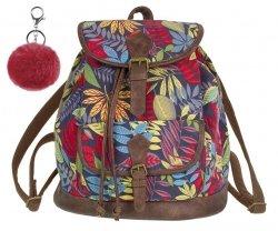 Plecak CoolPack miejski FIESTA kolorowe liście, AUTUMN LEAVES z pomponem (84390CP)