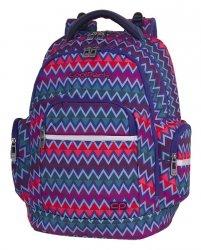 Plecak szkolny młodzieżowy COOLPACK BRICK kolorowe zygzaki, CHEVRON STRIPES (82379CP)