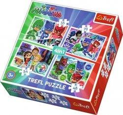 TREFL Puzzle 4 w 1 Drużyna pidżamersów (34299)