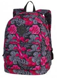 PLECAK CoolPack CROSS czerwone kwiaty na ciemnym tle, RED & BLACK FLOWERS (86387CP)