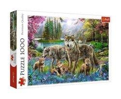 TREFL Puzzle 1000 el. Wilcza rodzina (10558)