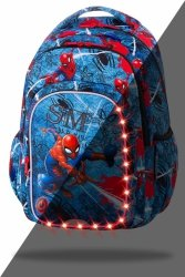 Plecak CoolPack SPARK LED Spiderman na niebieskim tle, SPIDERMAN DENIM (B45304)