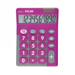 Kalkulator 10 pozycyjny Touch Duo różowy Milan (150610TDPBL)