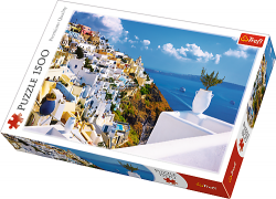 TREFL Puzzle 1500 el. Santorini, Grecja (26119)