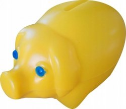 Skarbonka świnka plastikowa ŻOŁTA (00172)