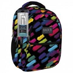 Plecak szkolny młodzieżowy Back UP kolorowe pasy COLORFULL STRIPES + słuchawki (PLB1B53)